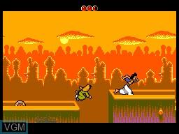 Image in-game du jeu Aladdin sur Sega Master System