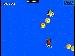 Image in-game du jeu Alex Kidd - BMX Trial sur Sega Master System