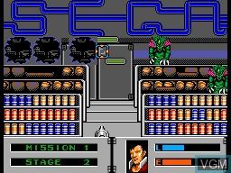 Image in-game du jeu Alien Storm sur Sega Master System