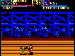 Image in-game du jeu Pit Fighter sur Sega Master System