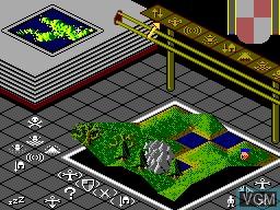 Image in-game du jeu Populous sur Sega Master System