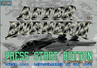 Image de l'ecran titre du jeu After Burner III sur Sega Mega CD