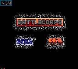 Image de l'ecran titre du jeu BattleCorps sur Sega Mega CD