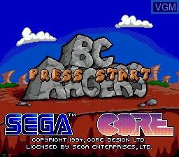 Image de l'ecran titre du jeu BC Racers sur Sega Mega CD