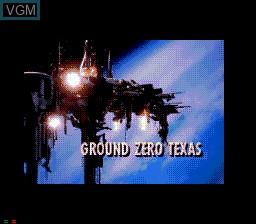 Image de l'ecran titre du jeu Ground Zero Texas sur Sega Mega CD
