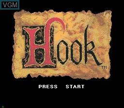 Image de l'ecran titre du jeu Hook sur Sega Mega CD