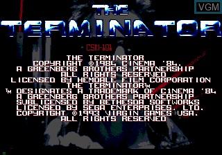 Image de l'ecran titre du jeu Terminator, The sur Sega Mega CD