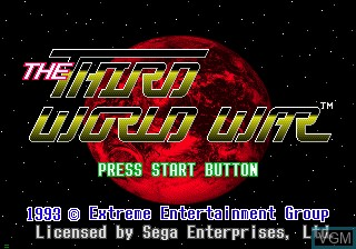 Image de l'ecran titre du jeu The Third World War sur Sega Mega CD