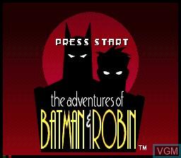 Image de l'ecran titre du jeu Adventures of Batman and Robin, The sur Sega Mega CD