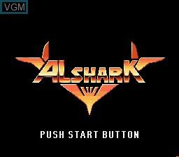 Image de l'ecran titre du jeu Alshark sur Sega Mega CD