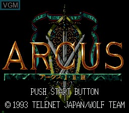 Image de l'ecran titre du jeu Arcus 1-2-3 sur Sega Mega CD