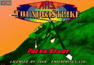 Image de l'ecran titre du jeu AH-3 Thunderstrike sur Sega Mega CD