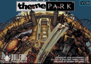 Image de l'ecran titre du jeu Theme Park sur Sega Mega CD