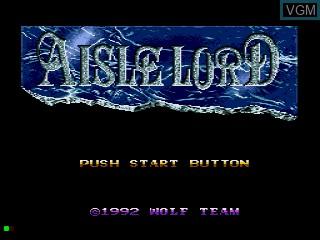 Image de l'ecran titre du jeu Aisle Lord sur Sega Mega CD