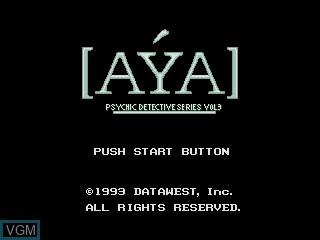 Image de l'ecran titre du jeu Psychic Detective Series Vol. 3 - Aya sur Sega Mega CD
