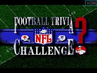 Image de l'ecran titre du jeu NFL Football Trivia Challenge sur Sega Mega CD