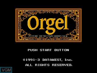 Image de l'ecran titre du jeu Psychic Detective Series Vol. 4 - Orgel sur Sega Mega CD
