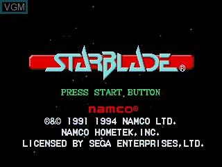 Image de l'ecran titre du jeu Starblade sur Sega Mega CD