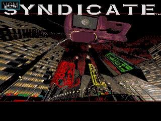Image de l'ecran titre du jeu Syndicate sur Sega Mega CD