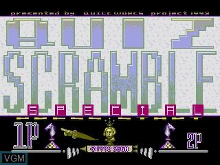 Image de l'ecran titre du jeu Quiz Scramble Special sur Sega Mega CD