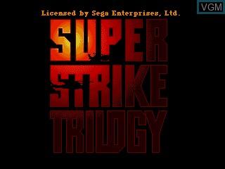 Image de l'ecran titre du jeu Super Strike Trilogy sur Sega Mega CD