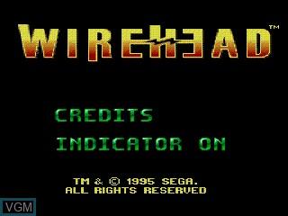 Image de l'ecran titre du jeu WireHead sur Sega Mega CD