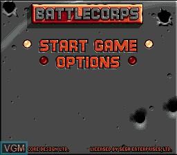 Image du menu du jeu BattleCorps sur Sega Mega CD