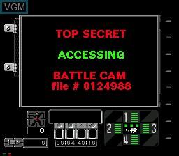 Image du menu du jeu Ground Zero Texas sur Sega Mega CD