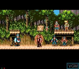 Image du menu du jeu Hook sur Sega Mega CD