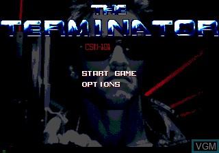 Image du menu du jeu Terminator, The sur Sega Mega CD