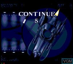 Image du menu du jeu Batman Returns sur Sega Mega CD