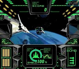 Image du menu du jeu AX-101 sur Sega Mega CD