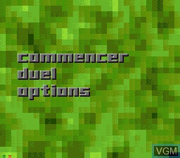 Image du menu du jeu Battle Frenzy sur Sega Mega CD