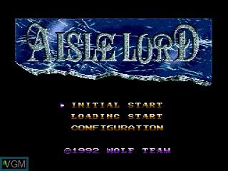 Image du menu du jeu Aisle Lord sur Sega Mega CD