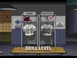 Image du menu du jeu NFL Football Trivia Challenge sur Sega Mega CD