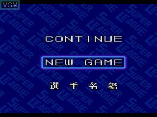 Image du menu du jeu Pro Yakyuu Super League CD sur Sega Mega CD