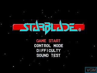 Image du menu du jeu Starblade sur Sega Mega CD