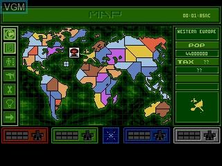 Image du menu du jeu Syndicate sur Sega Mega CD