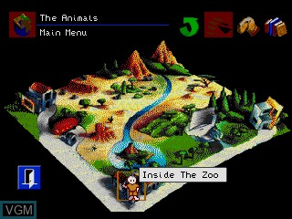 Image du menu du jeu The Animals! sur Sega Mega CD