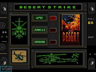 Image du menu du jeu Super Strike Trilogy sur Sega Mega CD