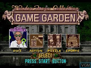 Image du menu du jeu WonderMega Collection sur Sega Mega CD