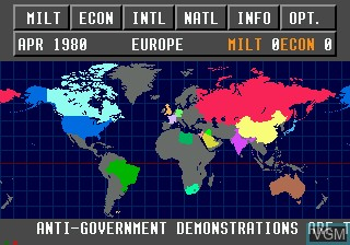 Image in-game du jeu The Third World War sur Sega Mega CD