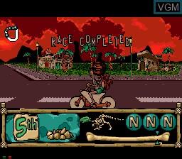 Image in-game du jeu BC Racers sur Sega Mega CD