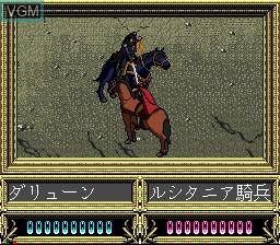 Image in-game du jeu Heroic Legend of Arslan, The sur Sega Mega CD