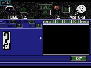 Image in-game du jeu NFL Football Trivia Challenge sur Sega Mega CD