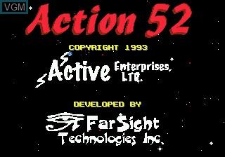 Image de l'ecran titre du jeu Action 52 sur Sega Megadrive