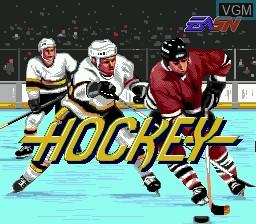 Image de l'ecran titre du jeu Pro Hockey sur Sega Megadrive
