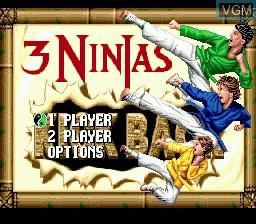 Image de l'ecran titre du jeu 3 Ninjas Kick Back sur Sega Megadrive