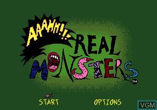 Image de l'ecran titre du jeu AAAHH!!! Real Monsters sur Sega Megadrive