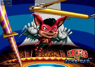 Image de l'ecran titre du jeu Aero the Acro-Bat sur Sega Megadrive